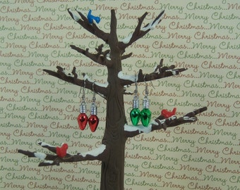 Christmas Tree Light Bulb Earrings