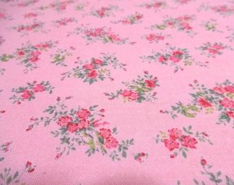 Japanese Fabric Basic D's SELECTION Flower Bouquet Pink  Fat Quarter