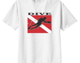 Scuba Dive New T Shirt, S M L XL 2X 3X 4X 5X