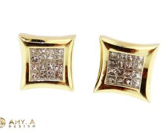 Beautiful 14k yellow gold diamond earring. 150-00016