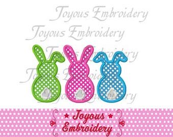 Three Bunnys Applique Machine Embroidery Design NO:1280