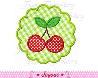 Instant Download Circle Cherry  Applique Embroidery Design NO:1534