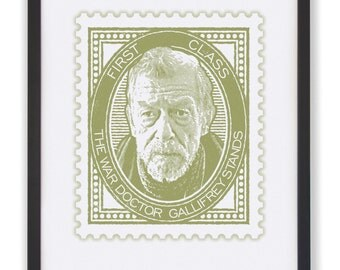 The War Doctor - 50 x 40cm Doctor Who Stamp Print