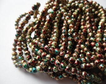 Hitchcock Psycho Glass Bead Strand 4mm (100 or 200 Bead Quantity)   -D4A-3