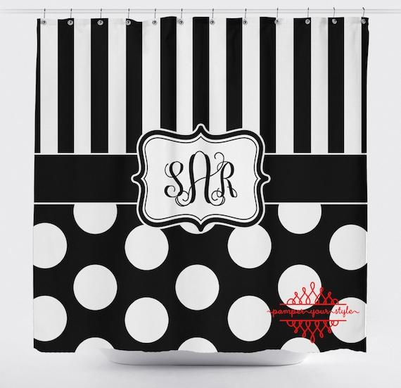 Custom Shower Curtain - Custom Decor - Black and White Shower Curtain ...