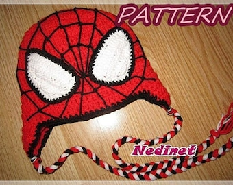 Crochet Pattern, spiderman crochet hat, crochet hat pattern, crochet pattern baby, spiderman hat, superhero, How to make crochet, Easy