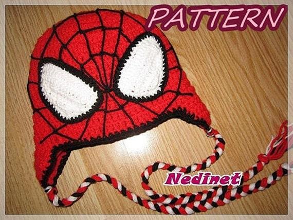 Crochet Pattern spiderman crochet hat crochet hat pattern