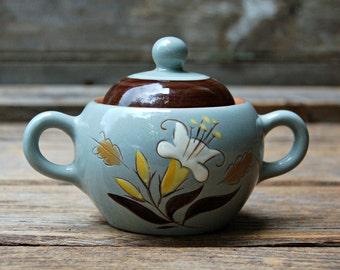 Vintage Stangl Golden Harvest Sugar Bowl with Lid