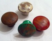 Distressed wooden drawer knobs  cabinet knobs custom made, 2 knobs