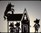 Three Little Pigs Shadow Puppet Set: Three Houses