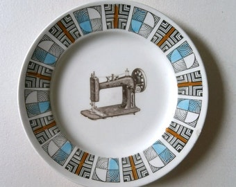 SALE PRICE small chip Vintage Singer Sewing Machine Plate Victorian Altered Art