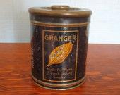 Vintage Advertising Tin - Granger Rough Cut Pipe Tobacco Tin - Liggett Meyers - USA