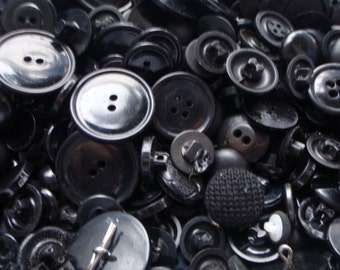 50 Black Button Mix 5 to 30mm