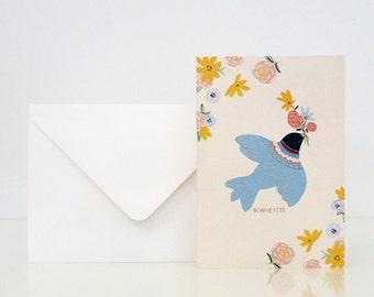 "1 ""Birdy"" card - Carte ""Birdy"""