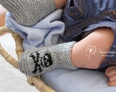 Baby Skull & crossbones hand knitted booties - 0-3 months - Many colours available