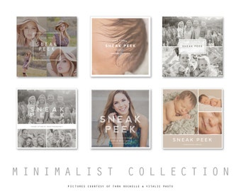 Sneak Peek Blog Board & Collage Photoshop Template for Photographers