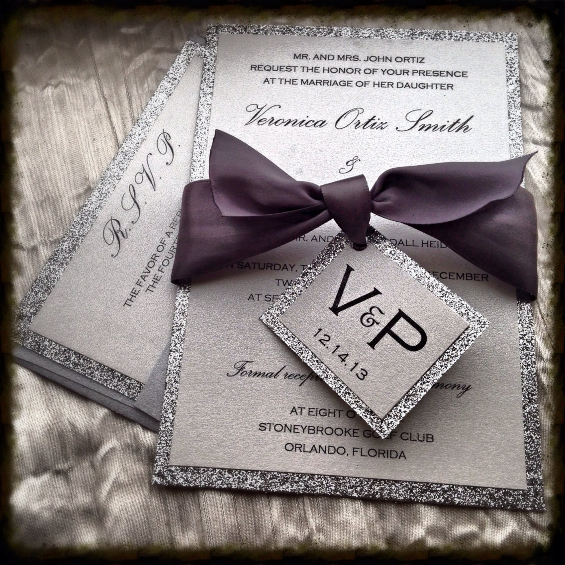 Sparkly Wedding Invitations