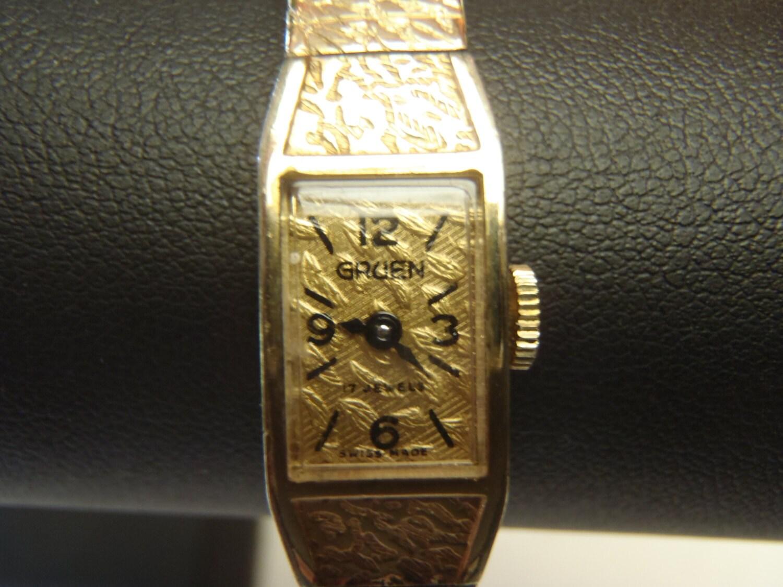 vintage gold plated gruen
