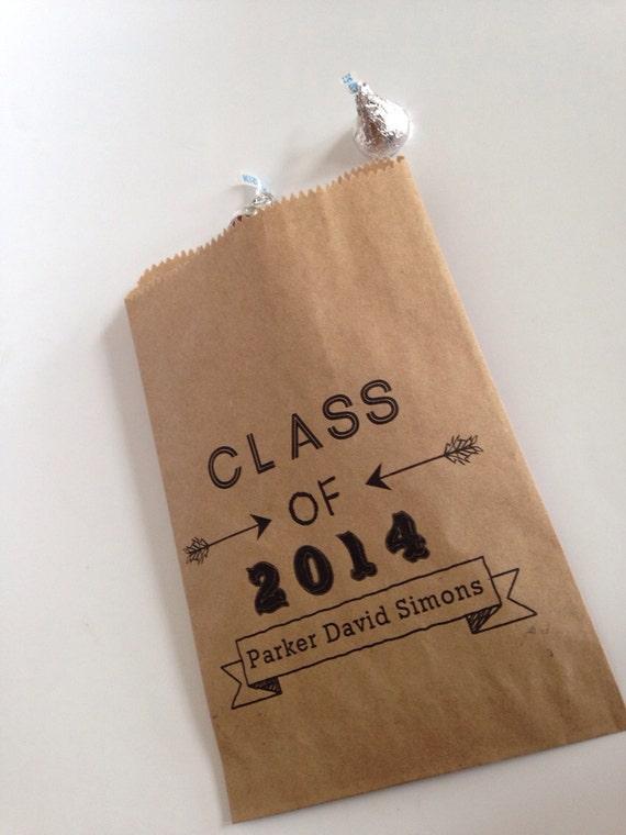 Items similar to Graduation, Candy Buffet Bag, Favor Bags ...