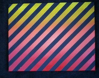 "16""x20"" Aerosol Striped Gradient Canvas"