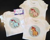Custom Order for Quinn - Year of the Horse Baby Bodysuit