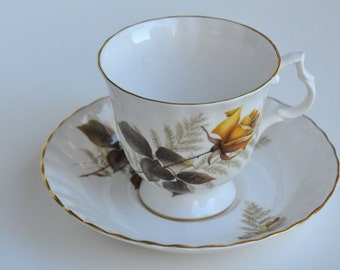 Bluebird Fine Bone China Teacup and Saucer Made In Canada