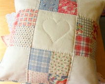 1930s Feedsack Hand Quilted Cushion Cover