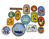 ON SALE - Girl Scout Brownie Badges NEVER used 1986