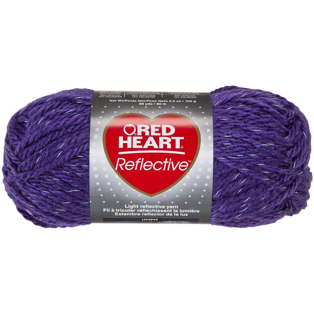 Knitting Patterns For Red Heart Reflective Yarn : Red Heart Reflective Bulky Weight Yarn in by ...