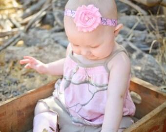 Pink Camo Headband. Pink camouflage Headband. Baby Headband. Headbands for Hunters. Shabby Headband