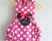 Minnie Mouse Pink Ruffled bubble Romper with optional monogramming • Disney romper •