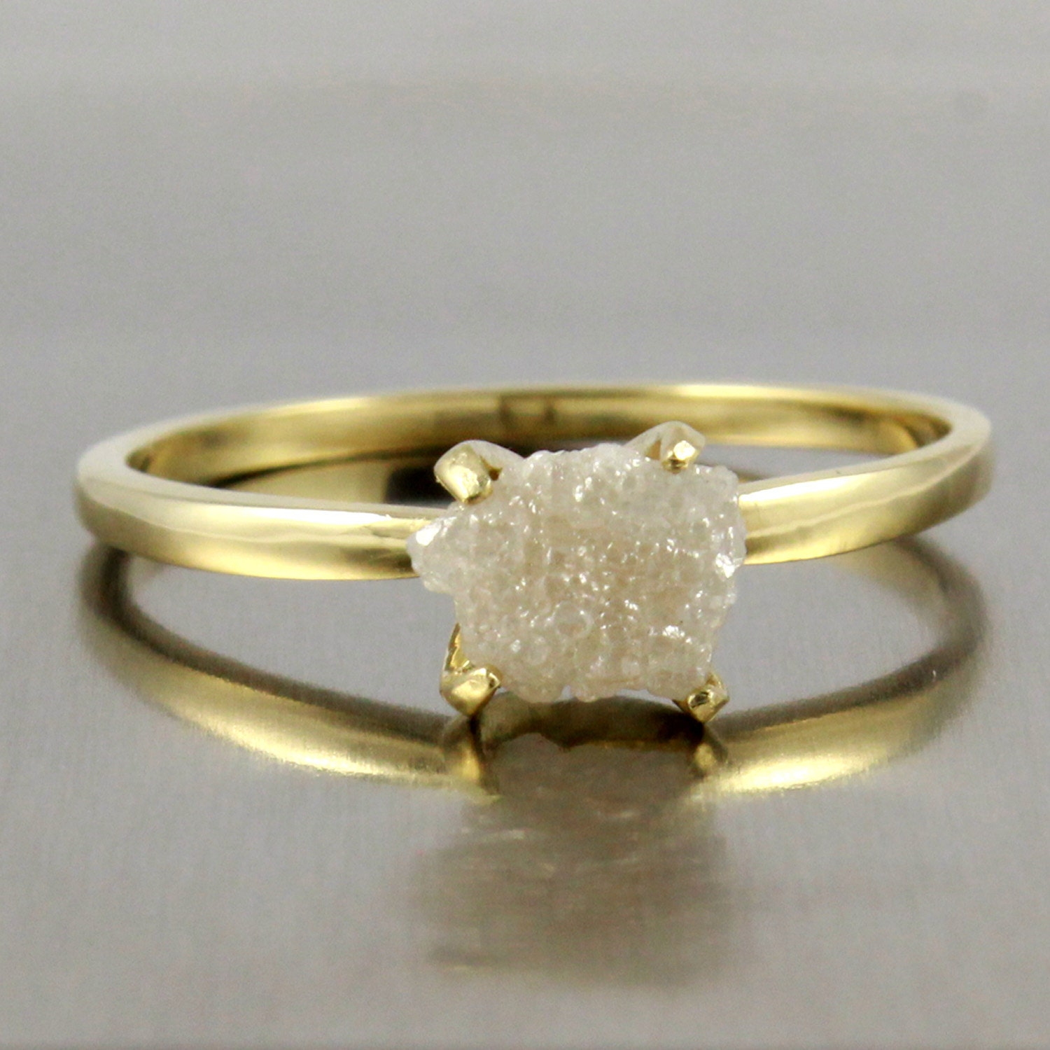 Rough Diamond Rings: Request A Custom Order And Have Something Made Just For You