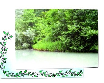 postcard with envelope decorated from one of my photos.