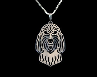 Petit Basset Griffon Vendeen - sterling silver pendant and necklace.