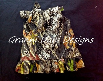 Mossy Oak ruffle baby girl 0 3 6 9 12 18 months 2t 3t 4t 5t pillowcase dress camo
