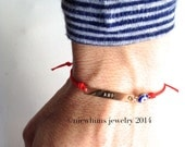Ani Eye Bar Bracelet / 14k gold-filled