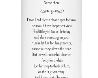 In Memory of a deceased Dad or Mother on Wedding Day
