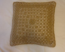 Crocheted Pillowcase / Handmade Pillowcase / Cushion / Home Decor / Beautiful Decor / Sofa Decor / Perfect Gift / Decorative Pillowcase