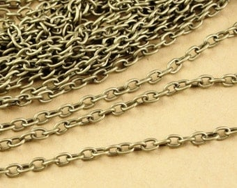 8 Meters 3mm Antique Bronze High Quality Chains A3388
