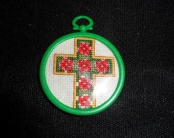 Christmas Cross Ornament