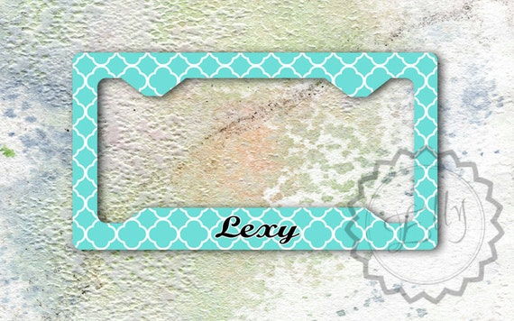 Tiffany Blue Quatrefoil Pattern Custom License By