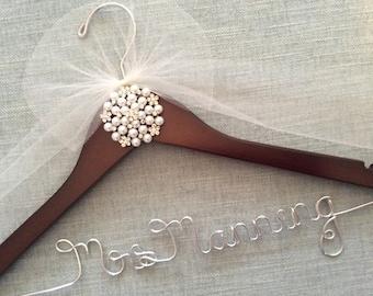 Bridal Hanger,  Wedding Shower Gift, Wedding Dress Hanger, Jewels & Rhinestone Hanger