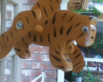Bengal Tiger Whirligig, Yard Art