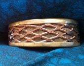 Copper and Brass Vintage Cuff Bracelet