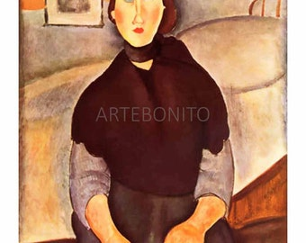 Amedeo Modigliani,  'La fille du peuple' limited edition & numbered Giclees