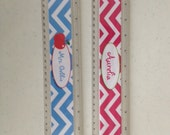 """Personalized rulers personalized 12"""" teacher ruler personalized chevron ruler personalized for teachers"""