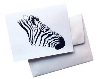 Zebra card - A2 (4.25 x 5.5)
