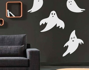 Halloween Friendly Ghost Wall Decals, Ghost Wall Decor, Ghost Wall Murals, Ghost Wall Designs, Halloween Ghost Decor, Ghost Wall Art, h06