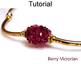 Beading Tutorial Pattern Necklace - Beaded Beads - Simple Bead Patterns - Berry Victorian #1611