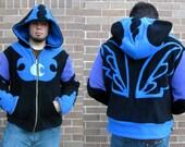 Moon -- Handmade Anti-Pill Fleece Hoodie / Sweatshirt